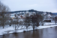 Κεντρικός αγωγός Lohr AM, Γερμανία - όμορφη πόλη στο Spessart Στοκ Εικόνες