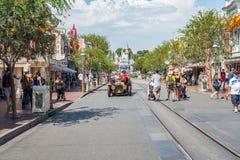 Κεντρικός δρόμος ΗΠΑ Disneyland ` s στο Αναχάιμ, Καλιφόρνια Στοκ Φωτογραφία