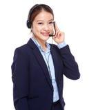 κεντρικός θηλυκός χειριστής κλήσης Στοκ φωτογραφίες με δικαίωμα ελεύθερης χρήσης