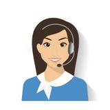κεντρικός θηλυκός χειριστής κλήσης Στοκ φωτογραφία με δικαίωμα ελεύθερης χρήσης