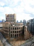 Κεντρικός κλάδος της δημόσια βιβλιοθήκης του Βανκούβερ στο στο κέντρο της πόλης Βανκούβερ Στοκ φωτογραφία με δικαίωμα ελεύθερης χρήσης