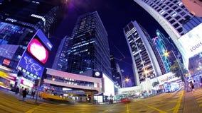 Κεντρικός. Νύχτα Timelapse πόλεων Χονγκ Κονγκ. απόθεμα βίντεο