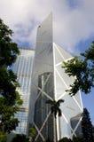 Κεντρικός οικονομικός ουρανοξύστης κεντρικών οριζόντων Χονγκ Κονγκ Τράπεζας της Κίνας BOC Στοκ Εικόνες