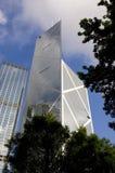 Κεντρικός οικονομικός ουρανοξύστης κεντρικών οριζόντων Χονγκ Κονγκ Τράπεζας της Κίνας BOC Στοκ Εικόνα