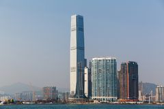 Κεντρικός ορίζοντας εμπορίου Χονγκ Κονγκ διεθνής κατά τη διάρκεια της ημέρας Στοκ φωτογραφίες με δικαίωμα ελεύθερης χρήσης
