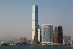 Κεντρικός ορίζοντας εμπορίου Χονγκ Κονγκ διεθνής κατά τη διάρκεια της ημέρας Στοκ εικόνα με δικαίωμα ελεύθερης χρήσης