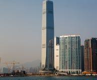 Κεντρικός ορίζοντας εμπορίου Χονγκ Κονγκ διεθνής κατά τη διάρκεια της ημέρας Στοκ Εικόνα