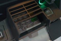 Κεντρικός πίνακας επιλογών του ATM με ένα πληκτρολόγιο για την πληκτρολογηση ενός προσωπικού κωδικού, ενός ανιχνευτή δακτυλικών α Στοκ φωτογραφίες με δικαίωμα ελεύθερης χρήσης
