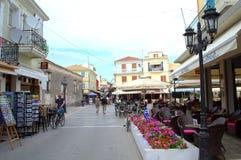 Κεντρικός δρόμος Λευκάδα, Ελλάδα Στοκ φωτογραφία με δικαίωμα ελεύθερης χρήσης