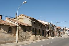 Κεντρικός δρόμος σε SAN Justo de Λα Vega - Ισπανία Στοκ Φωτογραφίες