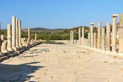Κεντρικός δρόμος στην αρχαία πόλη Patara Lycian Τουρκία Στοκ Εικόνα