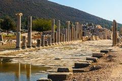 Κεντρικός δρόμος στην αρχαία πόλη Patara Lycian Τουρκία Στοκ φωτογραφίες με δικαίωμα ελεύθερης χρήσης