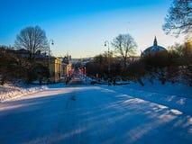 Κεντρικός δρόμος στο Όσλο, Νορβηγία Στοκ Εικόνες