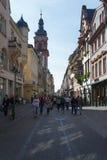 Κεντρικός δρόμος της Χαϋδελβέργης, Γερμανία Στοκ φωτογραφίες με δικαίωμα ελεύθερης χρήσης