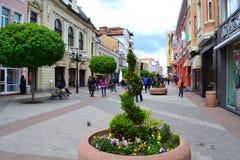 Κεντρικός δρόμος, Plovdiv Βουλγαρία Στοκ εικόνες με δικαίωμα ελεύθερης χρήσης