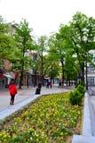 Κεντρικός δρόμος, Plovdiv Βουλγαρία Στοκ φωτογραφία με δικαίωμα ελεύθερης χρήσης
