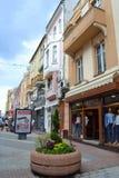 Κεντρικός δρόμος Plovdiv Στοκ φωτογραφία με δικαίωμα ελεύθερης χρήσης