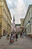 Κεντρικός δρόμος Trutnov στη Δημοκρατία της Τσεχίας Στοκ Φωτογραφίες