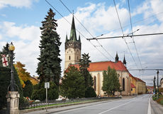 Κεντρικός δρόμος (ulica Hlavna) σε Presov Σλοβακία στοκ φωτογραφία