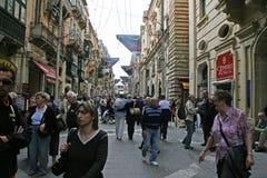 Κεντρικός δρόμος Valletta Στοκ εικόνα με δικαίωμα ελεύθερης χρήσης