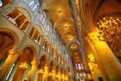 Κεντρικός σηκός της Notre Dame Στοκ Φωτογραφίες