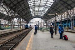 Κεντρικός σιδηροδρομικός σταθμός της Πράγας Στοκ Εικόνα