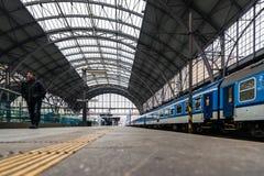 Κεντρικός σιδηροδρομικός σταθμός της Πράγας Στοκ Φωτογραφίες
