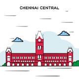Κεντρικός σιδηροδρομικός σταθμός Chennai διανυσματική απεικόνιση