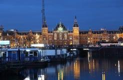 Κεντρικός σιδηροδρομικός σταθμός του Άμστερνταμ, Ολλανδία Στοκ Εικόνα