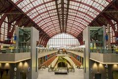 Κεντρικός σιδηροδρομικός σταθμός Antwerpen Στοκ Εικόνες