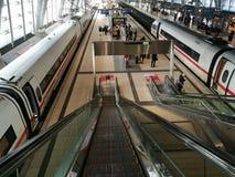 Κεντρικός σταθμός σιδηροδρόμων της Φρανκφούρτης στη Γερμανία Στοκ Εικόνες