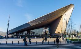 Κεντρικός σταθμός στο Ρότερνταμ Στοκ Φωτογραφίες