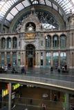 Κεντρικός σταθμός της Αμβέρσας, Antwerpen, Βέλγιο Στοκ Εικόνες