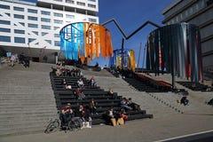 Κεντρικός σταθμός της Ουτρέχτης, Ολλανδία Στοκ Εικόνα