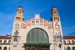 Κεντρικός σταθμός τρένου της Πράγας cesky τσεχική πόλης όψη δημοκρατιών krumlov μεσαιωνική παλαιά Στοκ φωτογραφία με δικαίωμα ελεύθερης χρήσης