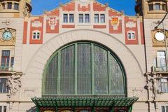 Κεντρικός σταθμός τρένου της Πράγας cesky τσεχική πόλης όψη δημοκρατιών krumlov μεσαιωνική παλαιά Στοκ Φωτογραφία