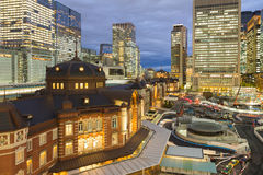 Κεντρικός σταθμός τρένου του Τόκιο στην πόλη κεντρικός Στοκ Εικόνες