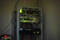 Κεντρικός υπολογιστής δικτύων ινών Στοκ εικόνα με δικαίωμα ελεύθερης χρήσης