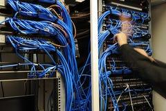 κεντρικός υπολογιστής καθορισμού σύνδεσης Στοκ φωτογραφία με δικαίωμα ελεύθερης χρήσης