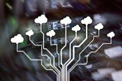 Κεντρικός υπολογιστής και υπολογισμός σύννεφων, αποθήκευση στοιχείων και επεξεργασία Διαδίκτυο και έννοια τεχνολογίας στοκ φωτογραφία με δικαίωμα ελεύθερης χρήσης