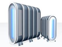 Κεντρικός υπολογιστής με το μπλε γυαλί στοκ εικόνες