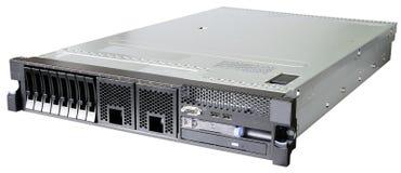 Κεντρικός υπολογιστής Rackmount πέρα από το λευκό Στοκ φωτογραφία με δικαίωμα ελεύθερης χρήσης