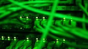 Κεντρικός υπολογιστής Ethernet με να αναβοσβήσει τα φω'τα