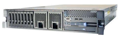 Κεντρικός υπολογιστής Rackmount που απομονώνεται Στοκ Εικόνα