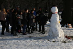 κεντρικός χειμώνας πάρκων Στοκ φωτογραφίες με δικαίωμα ελεύθερης χρήσης