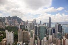 Κεντρικός, Χονγκ Κονγκ - 22 Σεπτεμβρίου 2017: Εναέριος ουρανοξύστης άποψης Στοκ Φωτογραφίες