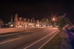 Κεντρικός Newport Ρόδος στις ώρες σούρουπου Στοκ φωτογραφία με δικαίωμα ελεύθερης χρήσης