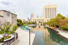 Κεντρικό κανάλι της Ιντιάνα, Ινδιανάπολη, Ιντιάνα, ΗΠΑ Στοκ εικόνες με δικαίωμα ελεύθερης χρήσης