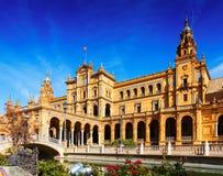 Κεντρικό κτήριο Plaza de Espana Σεβίλη Στοκ φωτογραφίες με δικαίωμα ελεύθερης χρήσης