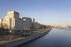 Κεντρικό κτίριο του Υπουργείου άμυνας της Ρωσικής Ομοσπονδίας Minoboron Μόσχα Ρωσία στοκ φωτογραφία